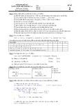 Đề kiểm tra học kỳ môn Ngôn ngữ lập trình C
