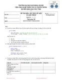 Đề thi học kỳ năm 2011 môn Cấu trúc dữ liệu và giải thuật - Đại học Bách khoa Hà Nội