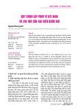 Quy trình lập pháp ở Việt Nam và vai trò của đại biểu Quốc hội