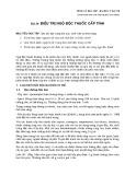 Bài giảng Dược lý học - Bài 36: Điều trị ngộ độc thuốc cấp tính