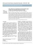 Ảnh hưởng của các nguồn nitơ khác nhau đến sự sinh trưởng của Arthrospira (Spirulina) platensis