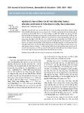 Nghiên cứu ảnh hưởng của hồ thủy điện Sông Tranh 2 đến vận chuyển bùn cát trên sông Thu Bồn, tỉnh Quảng Nam