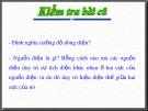 Bài giảng Vật lí 11 - Bài 7: Dòng điện không đổi nguồn điện (Tiết 2)