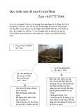 Quy trình nuôi dế mèn