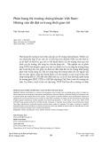Phân hạng thị trường chứng khoán Việt Nam - Những vấn đề đặt ra trong thời gian tới