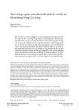 Thực trạng nguồn vốn phát triển kinh tế- xã hội tại Đồng bằng Sông Cửu Long