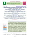 Solution for sustainable development for developing countries: Waste water treatment by use of membranes - A review