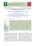 A study on the quality changes of Taktir fruits (Garcinia lancifolia. Roxb) in different packages during storage