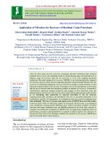Application of microbes for recovery of residual crude petroleum