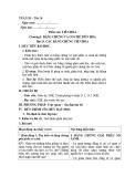 Giáo án Sinh học 12 - Bài 24: Các bằng chứng tiến hóa