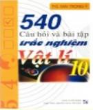 Tuyển chọn 540 câu hỏi và bài tập trắc nghiệm Vật lý 10: Phần 1