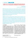 Nghiên cứu ứng dụng công nghệ tưới nhỏ giọt cho 20 ha măng tây, xã An Hải, huyện Ninh Phước, tỉnh Ninh Thuận