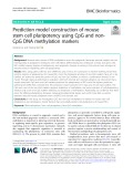 Prediction model construction of mouse stem cell pluripotency using CpG and nonCpG DNA methylation markers