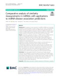 Comparative analysis of similarity measurements in miRNAs with applications to miRNA-disease association predictions