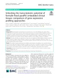 Unlocking the transcriptomic potential of formalin-fixed paraffin embedded clinical tissues: Comparison of gene expression profiling approaches