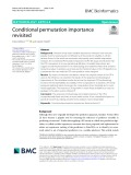 Conditional permutation importance revisited