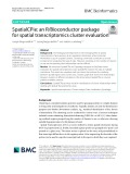 SpatialCPie: An R/Bioconductor package for spatial transcriptomics cluster evaluation