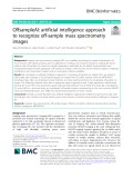 OffsampleAI: Artificial intelligence approach to recognize off-sample mass spectrometry images