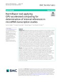 NormiRazor: Tool applying GPU-accelerated computing for determination of internal references in microRNA transcription studies