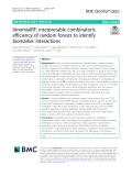 BinomialRF: Interpretable combinatoric efficiency of random forests to identify biomarker interactions