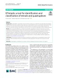 ElTetrado: A tool for identification and classification of tetrads and quadruplexes