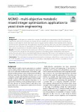 MOMO - multi-objective metabolic mixed integer optimization: Application to yeast strain engineering
