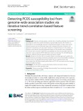 Detecting PCOS susceptibility loci from genome-wide association studies via iterative trend correlation based feature screening