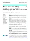 MSpectraAI: A powerful platform for deciphering proteome profiling of multi‑tumor mass spectrometry data by using deep neural networks