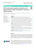 GPU accelerated adaptive banded event alignment for rapid comparative nanopore signal analysis