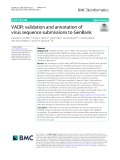 VADR: Validation and annotation of virus sequence submissions to GenBank