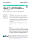 SCSIM: Jointly simulating correlated single-cell and bulk next-generation DNA sequencing data