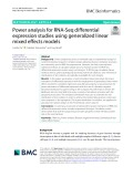 Power analysis for RNA-Seq differential expression studies using generalized linear mixed effects models