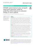 PDXGEM: Patient-derived tumor xenograftbased gene expression model for predicting clinical response to anticancer therapy in cancer patients