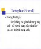 Bài giảng Tường lửa (Firewall)