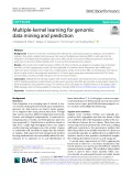 Multiple-kernel learning for genomic data mining and prediction