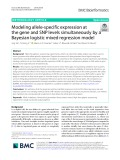 Modeling allele-specific expression at the gene and SNP levels simultaneously by a Bayesian logistic mixed regression model