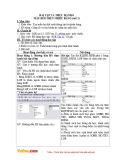 Giáo án Tin học 12 - Bài tập và thực hành 8: Mẫu hỏi trên nhiều bảng (Tiết 2)