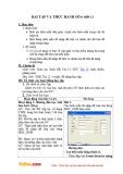 Giáo án Tin học 12 - Bài tập và thực hành số 6 (Tiết 1)