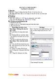 Giáo án Tin học 12 - Bài tập và thực hành 9: Tạo báo cáo (Tiết 2)