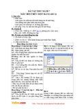 Giáo án Tin học 12 - Bài tập thực hành 7: Mẫu hỏi trên một bảng (Tiết 1)