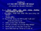 Bài giảng Kinh tế quốc tế - Chương 2: Lý thuyết cổ điển về mậu dịch quốc tế classical trade theory)