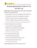 Đề thi giữa học kì 2 môn Tiếng Anh lớp 12 năm học 2018-2019