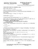 Đề kiểm tra giữa học kì 2 môn Toán lớp 12 năm học 2013-2014 – Trường THCS-THPT Khai Minh