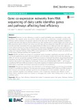 Gene co-expression networks from RNA sequencing of dairy cattle identifies genes and pathways affecting feed efficiency