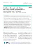 Intelligent diagnosis with Chinese electronic medical records based on convolutional neural networks