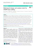 Web-based design and analysis tools for CRISPR base editing