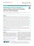 Bioinformatics Resource Manager: A systems biology web tool for microRNA and omics data integration