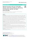 Machine learning with the TCGA-HNSC dataset: Improving usability by addressing inconsistency, sparsity, and highdimensionality