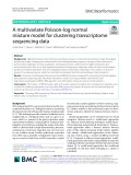 A multivariate Poisson-log normal mixture model for clustering transcriptome sequencing data