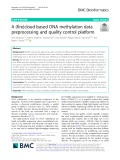 A (fire)cloud-based DNA methylation data preprocessing and quality control platform